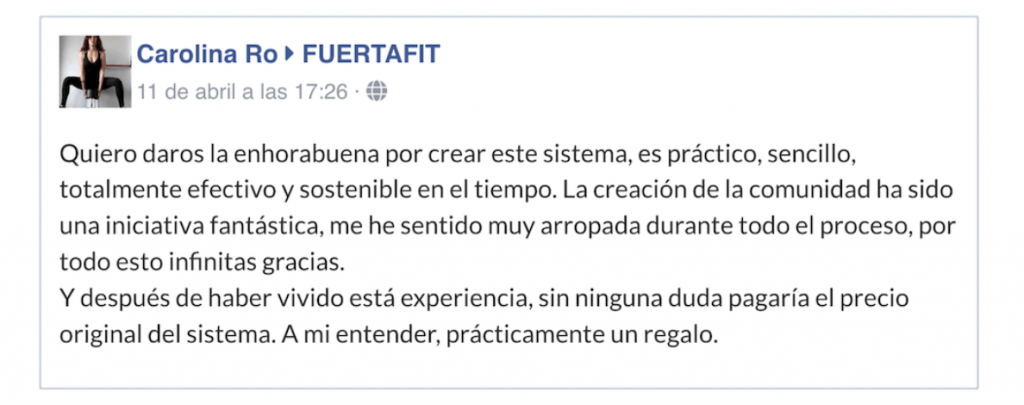 fuertafit+ testimonios